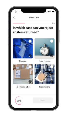 Microlearning Mobile App with Quizzes